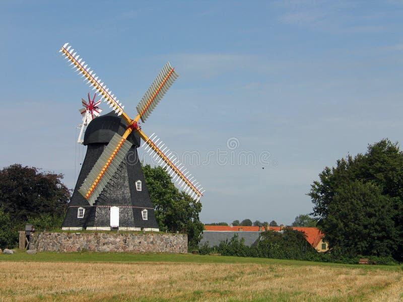 Molino de viento viejo Dinamarca fotos de archivo