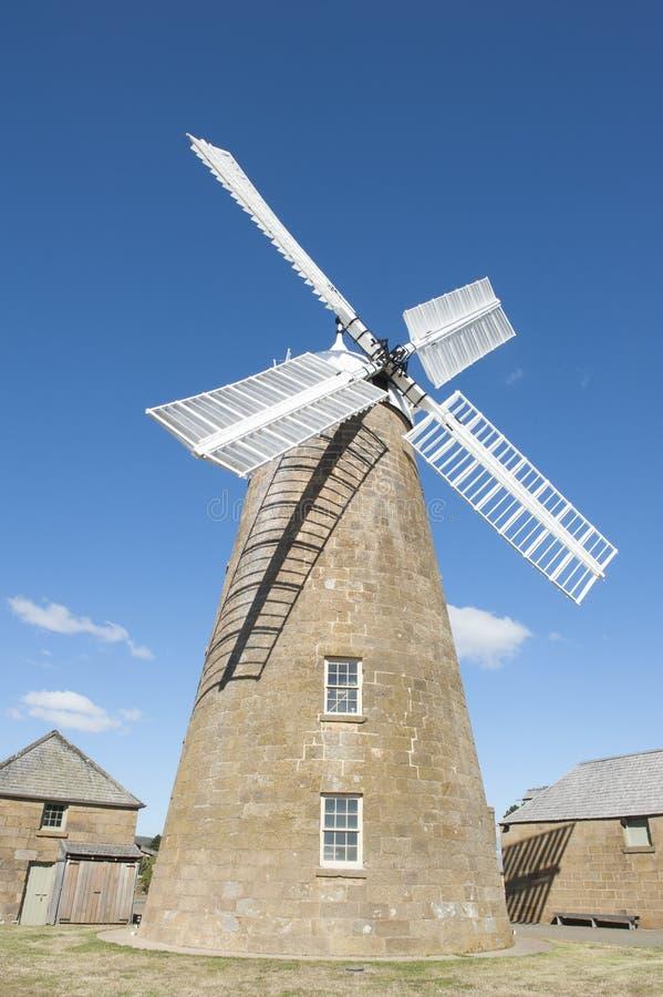 Molino de viento y museo históricos de la harina en Oatlands Tasmania foto de archivo libre de regalías