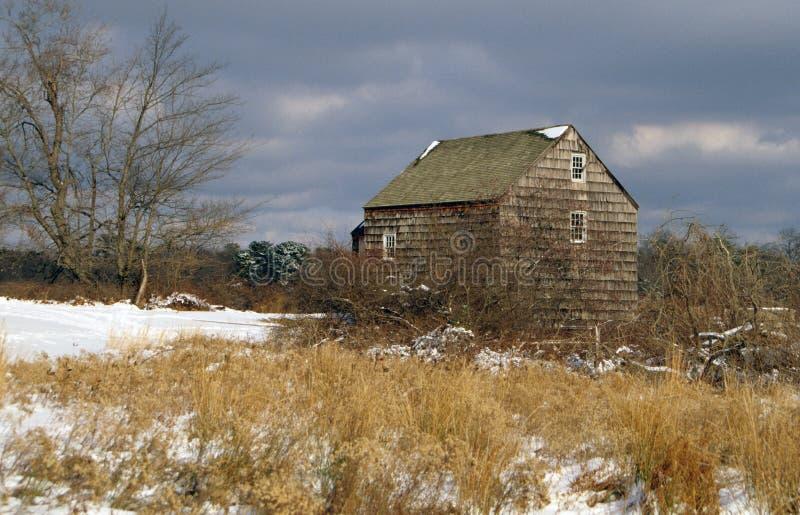 Molino del grano para moler de Nicoll - río de Connetquot, Nueva York fotos de archivo