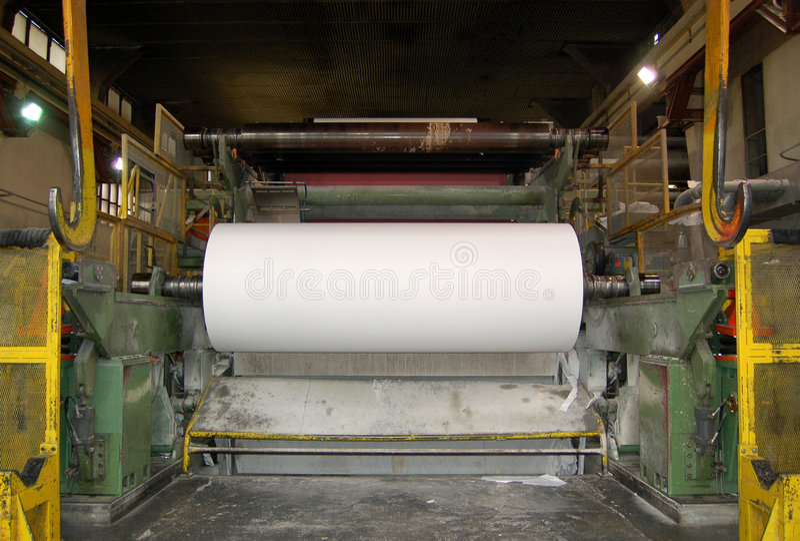 Molino del papel y de pulpa fotografía de archivo