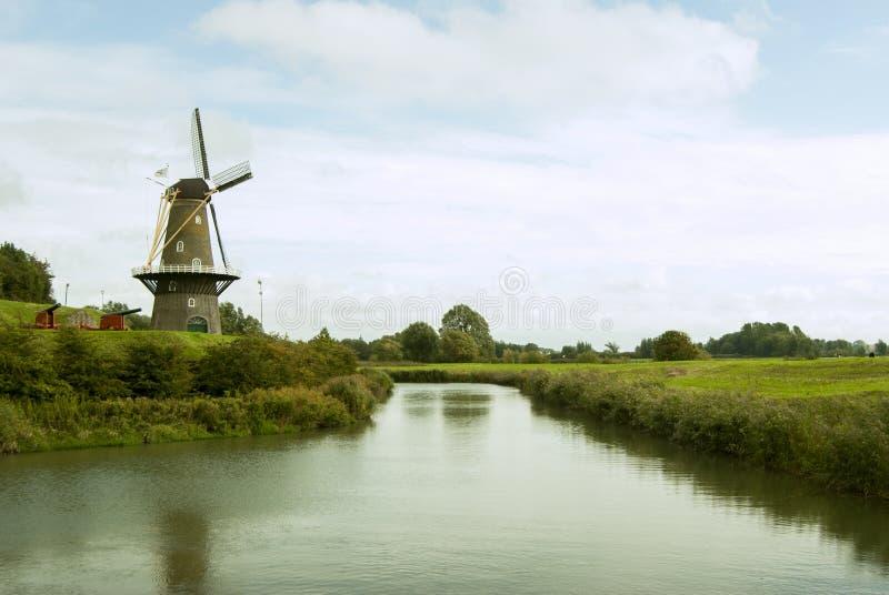 Molino en Lovestein, Holanda fotos de archivo