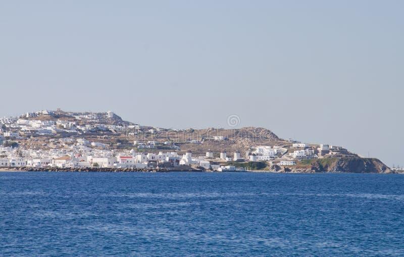 Molinoes de viento de Mykonos - Grecia foto de archivo libre de regalías