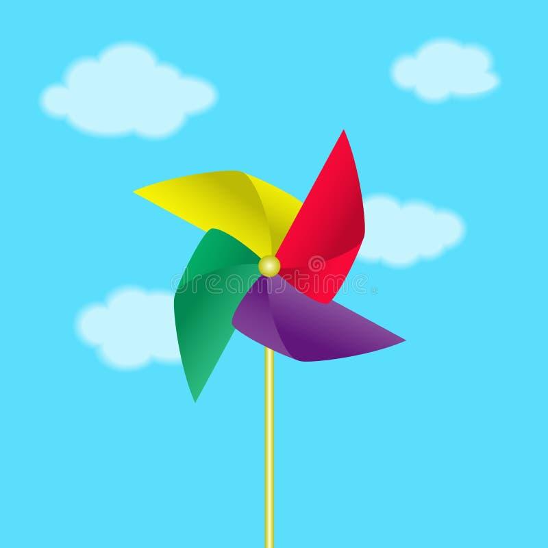 Molinoes de viento de papel fotografía de archivo libre de regalías