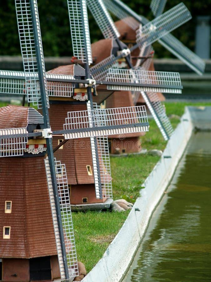 Molinoes de viento - Países Bajos imagen de archivo