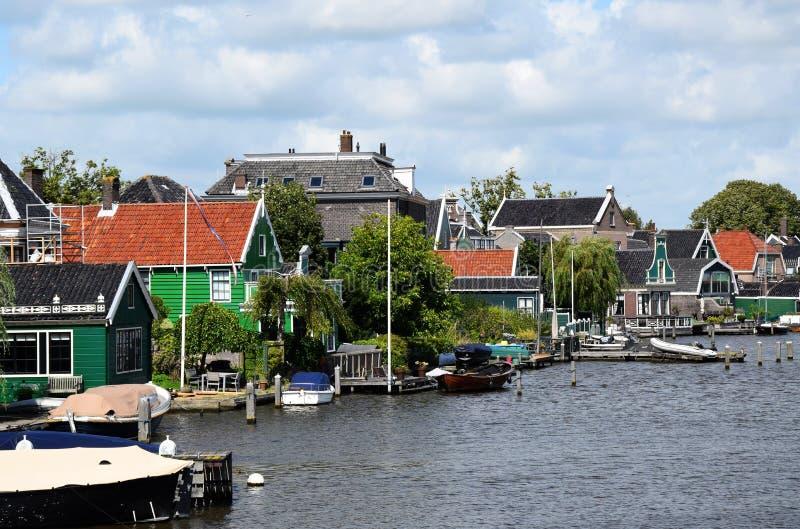 Molinoes de viento de Zaanse Schans en Zaandem, Holanda, los Países Bajos foto de archivo libre de regalías