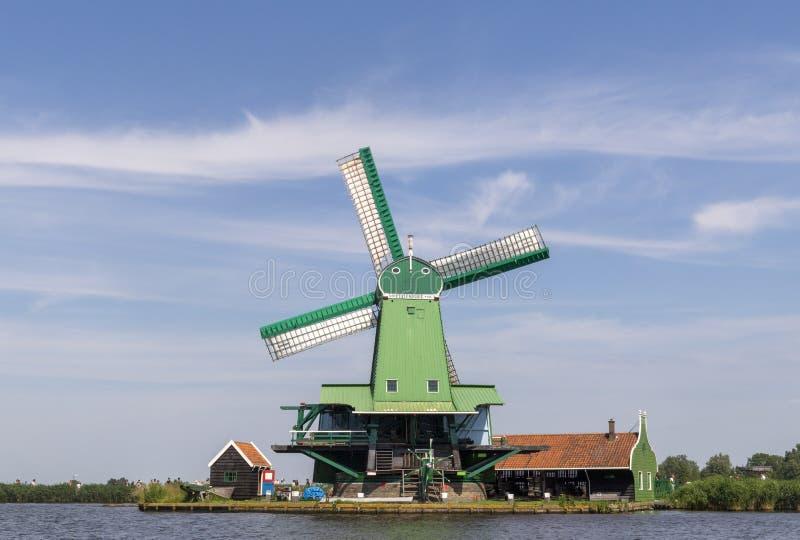 Molinoes de viento de Zaanse Schans fotos de archivo