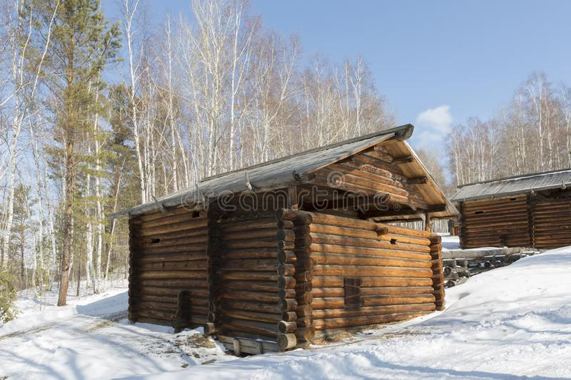 Molinos de agua antiguos en Irkutsk imagen de archivo
