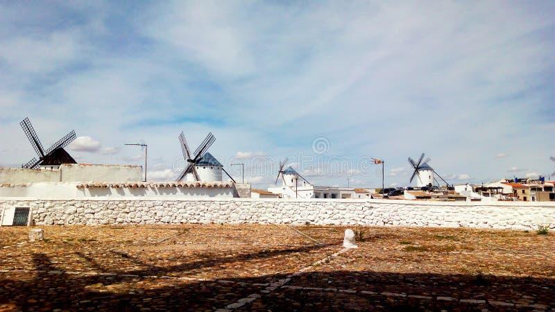 Molinos de Campo de Criptana arkivfoto