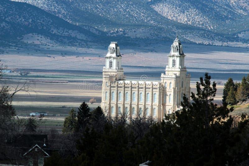 Molla in anticipo LDS del tempio mormonico di Manti Utah fotografie stock