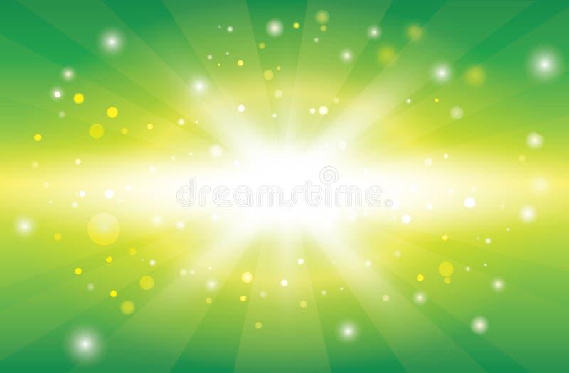 Molla astratta o fondo soleggiato di estate illustrazione di stock