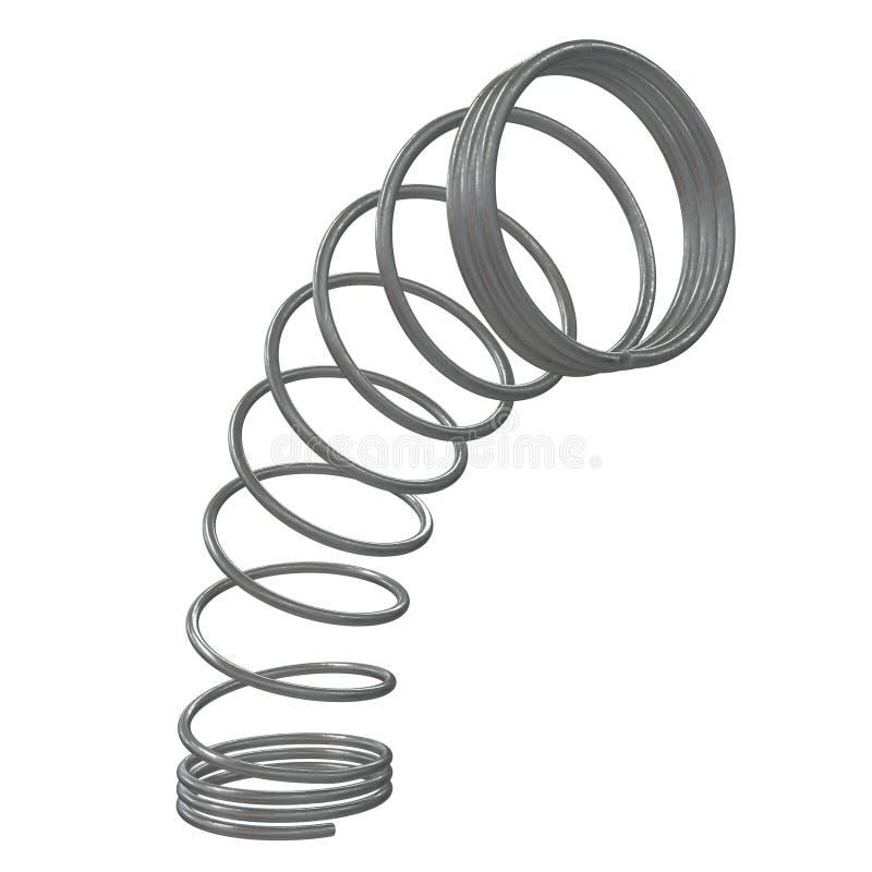 Molla 3d del metallo illustrazione vettoriale