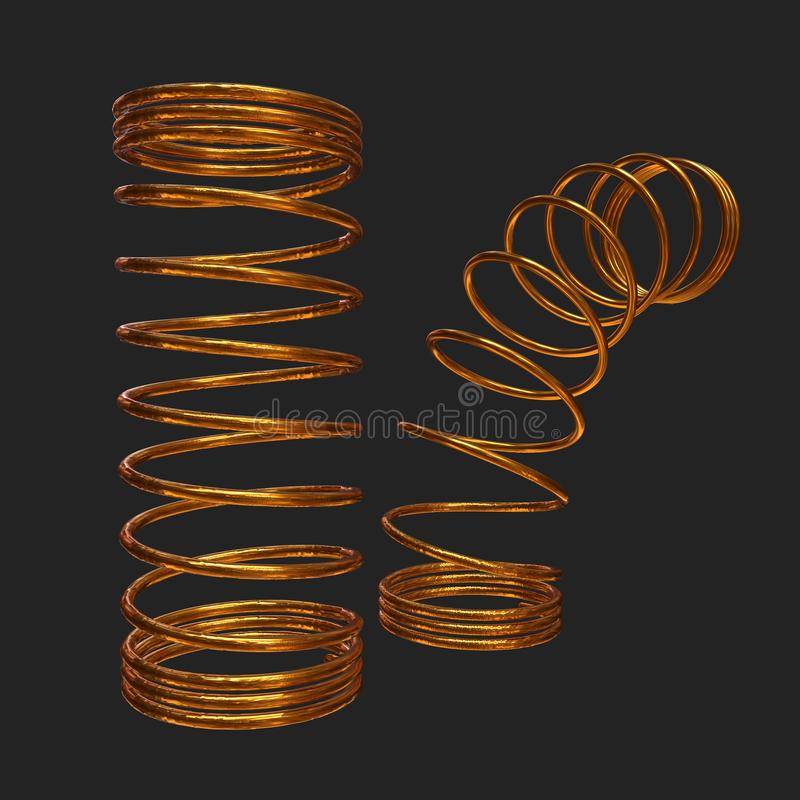 Molla 3d dell'oro illustrazione di stock