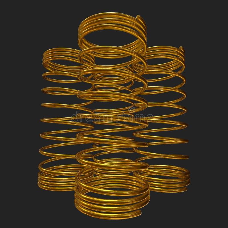 Molla 3d dell'oro royalty illustrazione gratis
