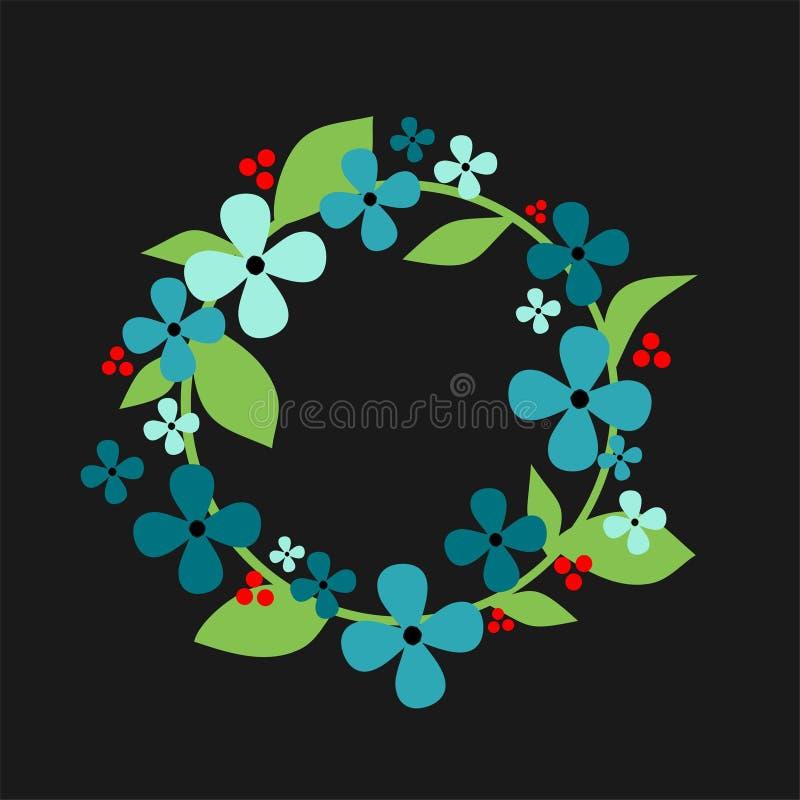 Molla floreale della corona illustrazione di stock