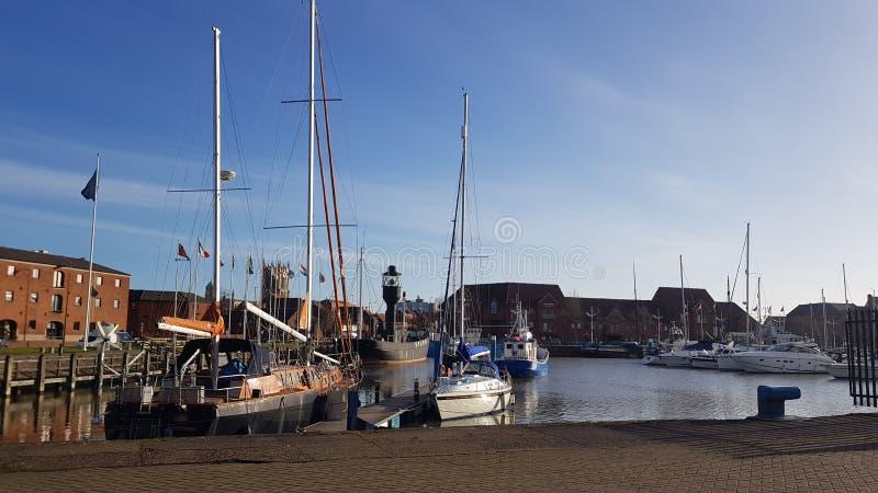 Molla 2018 Regno Unito di yeard dell'yacht della città del guscio fotografia stock libera da diritti