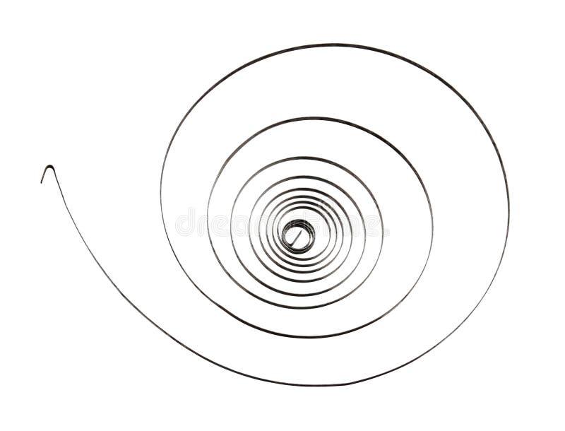 Molla a spirale del rotolo immagini stock