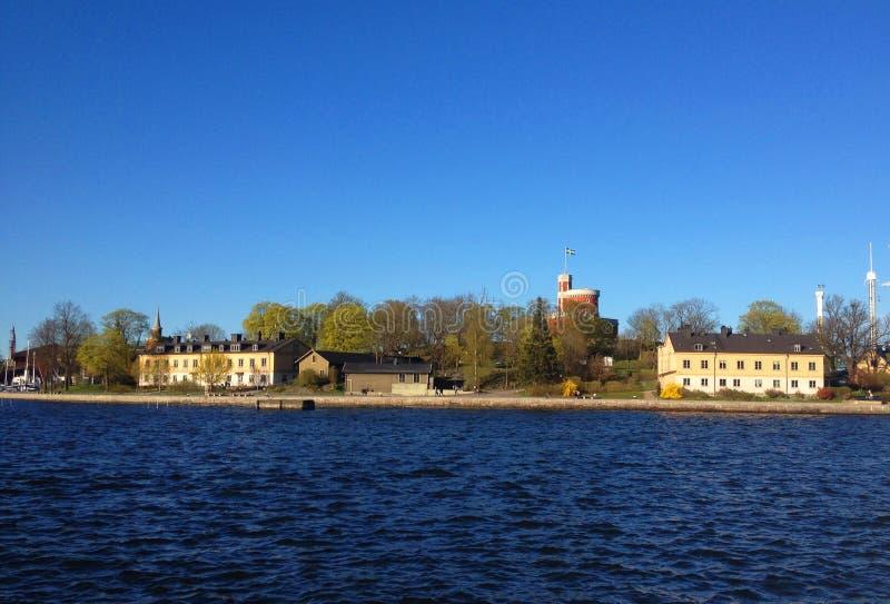 Molla in Svezia Viaggio della barca alle isole fotografia stock