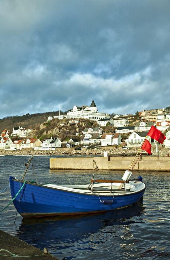 Molle渔村在瑞典 库存图片