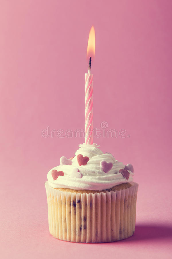 Mollete del cumpleaños imagen de archivo