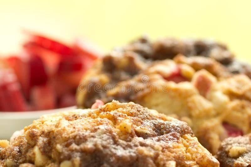 Molletes libres del ruibarbo del gluten imagen de archivo