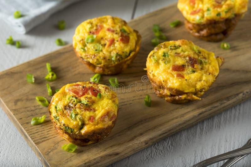 Molletes sanos hechos en casa del huevo del desayuno imágenes de archivo libres de regalías