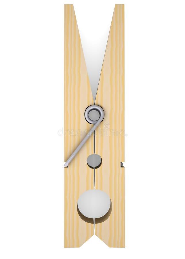 Favorito Molletta Da Bucato Di Legno Illustrazione di Stock - Illustrazione  CH67
