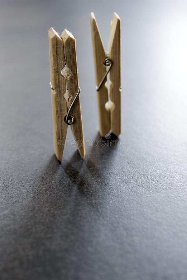Mollette di legno immagine stock libera da diritti