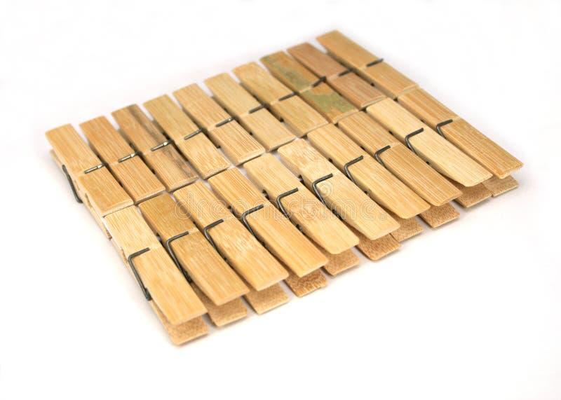 Mollette di legno isolate fotografia stock libera da diritti