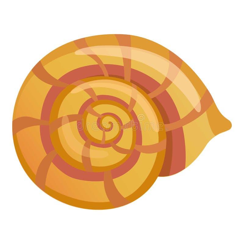 Mollusk skorupy ikona, kreskówka styl ilustracja wektor