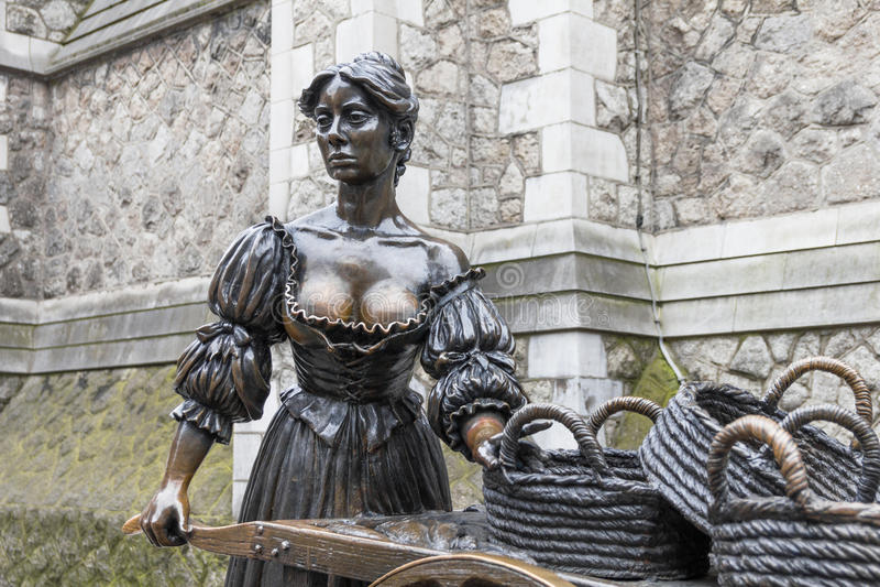 The Molly Malone statue, Dublin royalty free stock photo