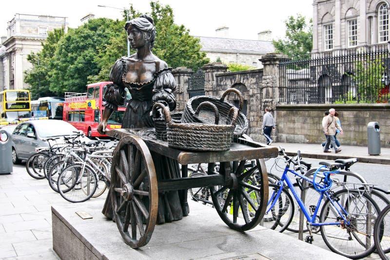 Molly Malone statue, Dublin, Ireland royalty free stock photo