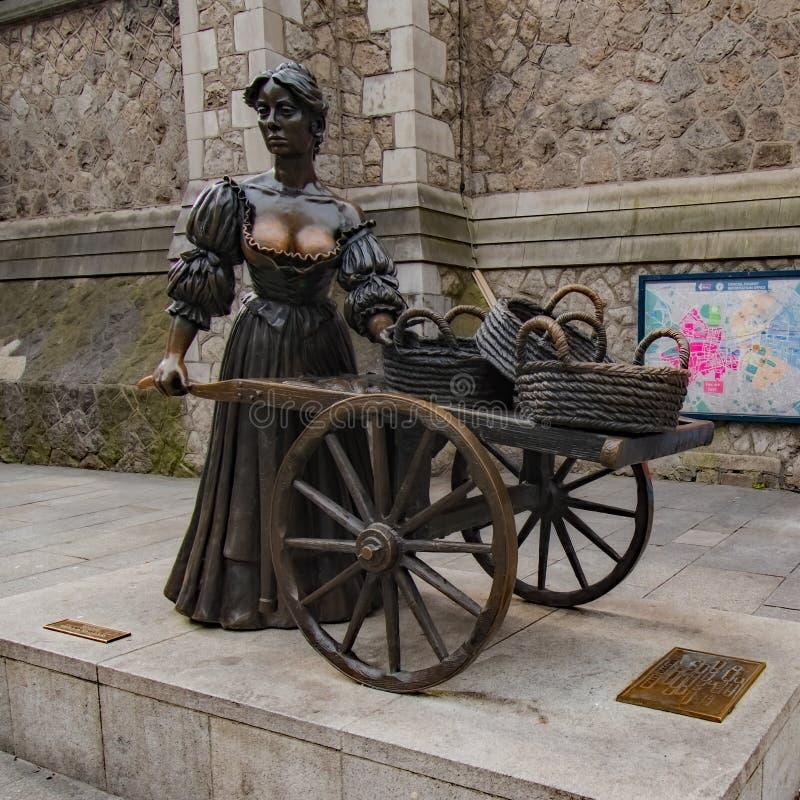 Molly Malone Statue Dublin royalty free stock photography