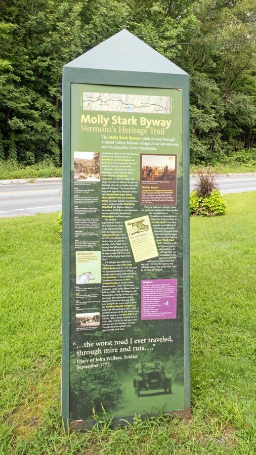Molly Stark Byway obelisk arkivfoton