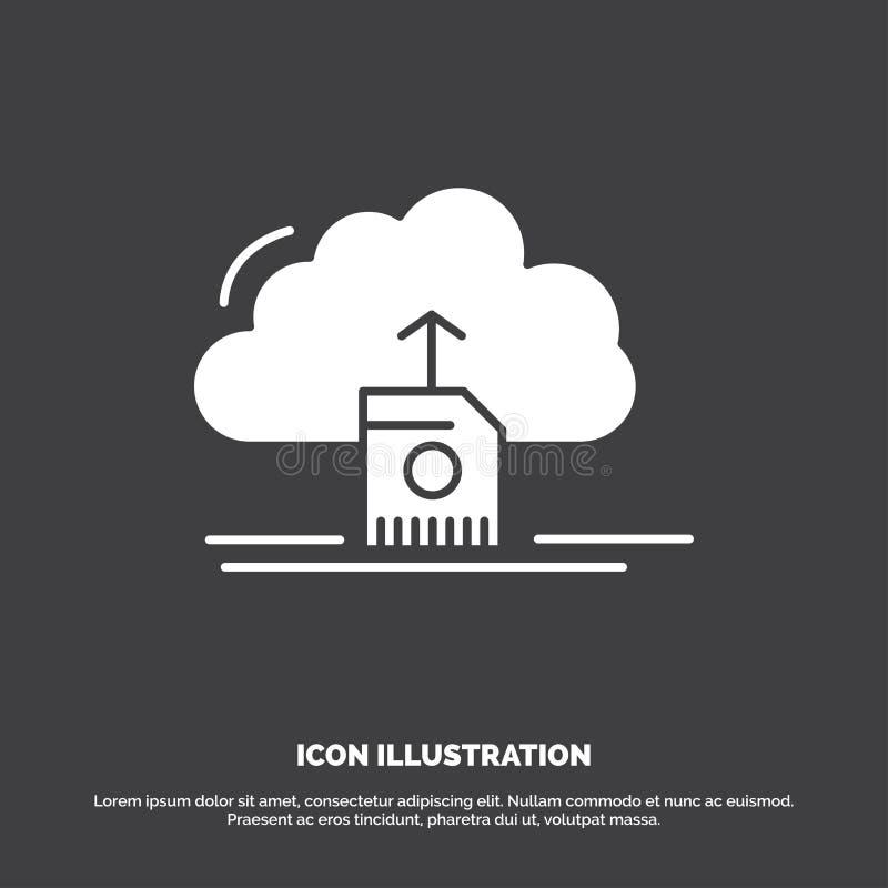 moln att ladda upp, att spara, data, beräknande symbol r vektor illustrationer