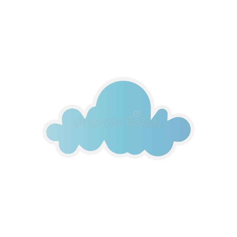 Moln Blå himmel med olika molnformer Gullig sommarcloudscape, molnigt landskap, vektor för panorama för enkelhetsnatur flyg- stock illustrationer