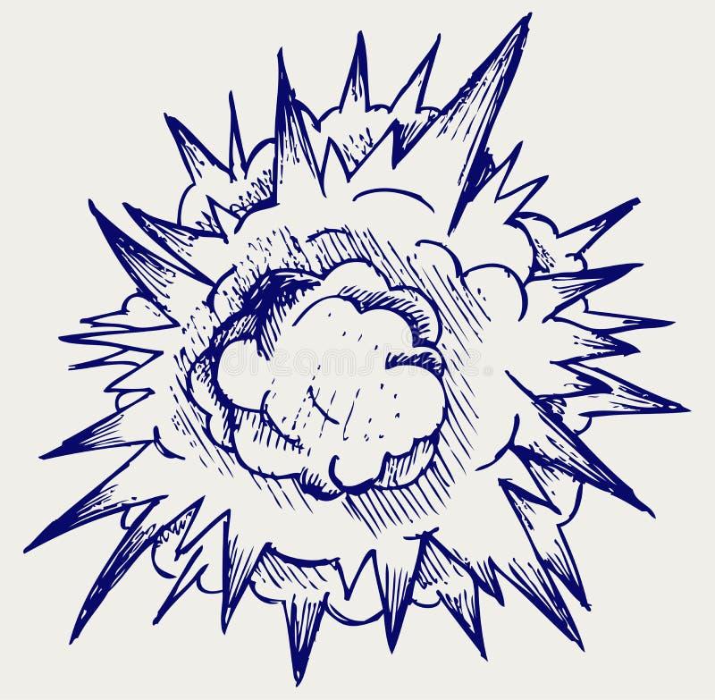 Moln efter explosionen royaltyfri illustrationer