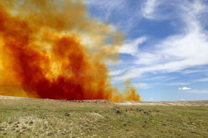 Moln för gasformigt grundämnedioxid fotografering för bildbyråer