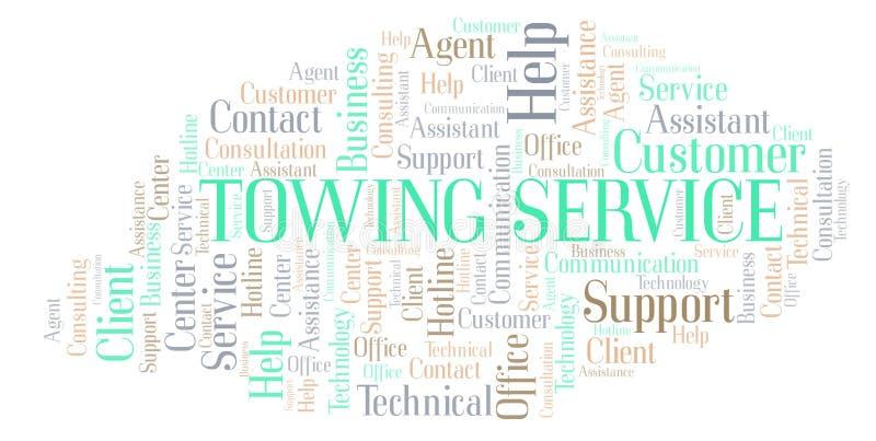 Moln för ord för bogsera service vektor illustrationer