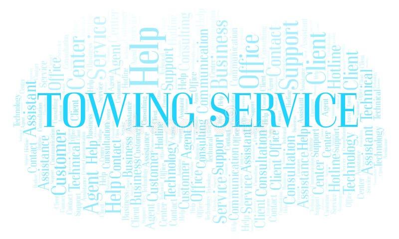 Moln för ord för bogsera service royaltyfri illustrationer