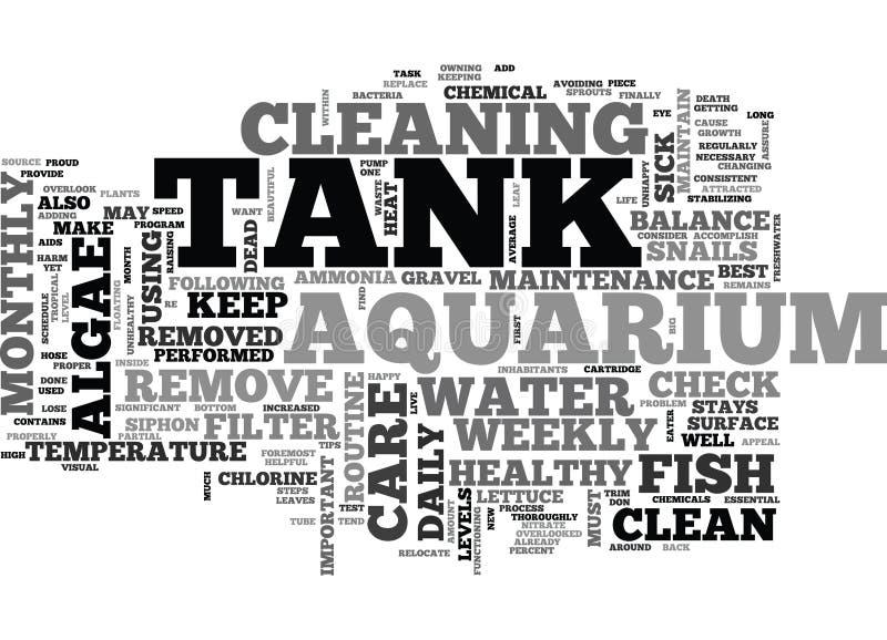 Moln för ord för akvariumomsorghandbok stock illustrationer