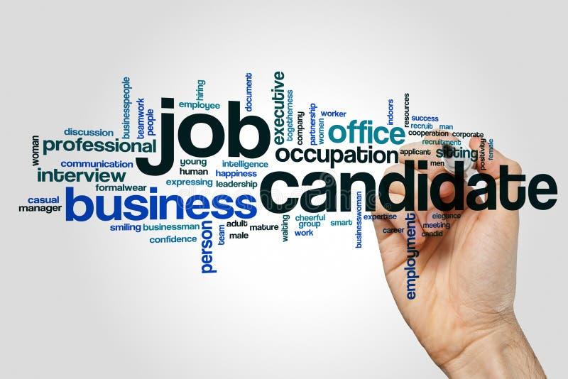 Moln för ord för jobbkandidat vektor illustrationer