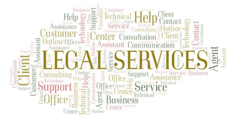 Moln för ord för laglig service vektor illustrationer