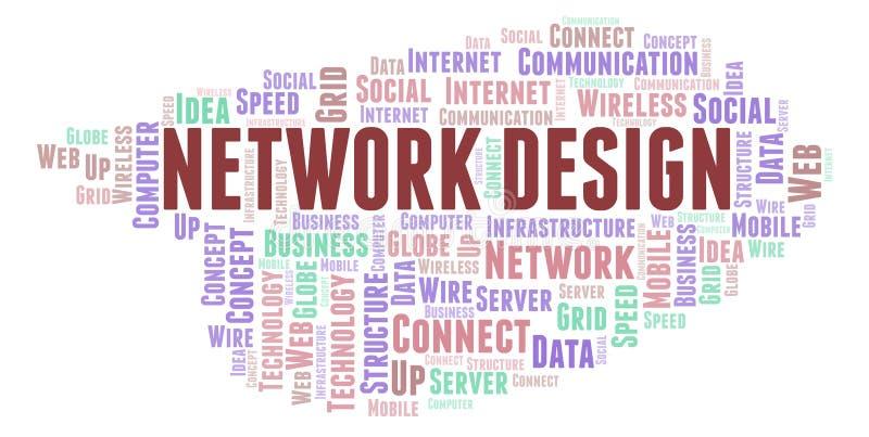 Moln för ord för nätverksdesign vektor illustrationer