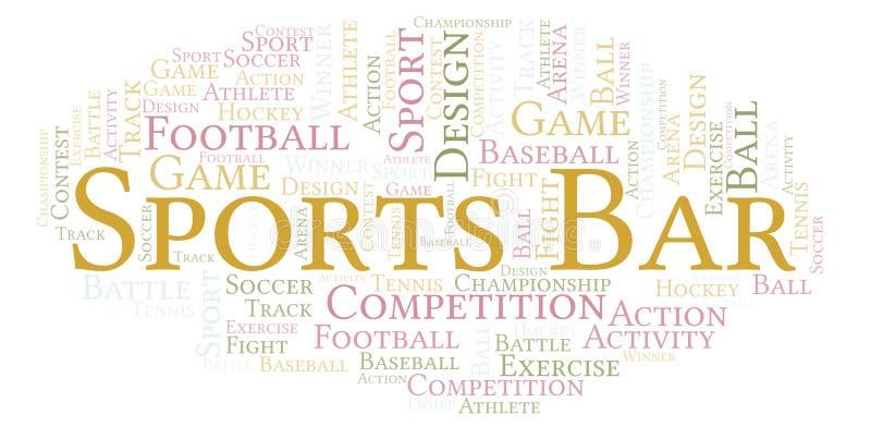 Moln för ord för sportstång royaltyfri illustrationer