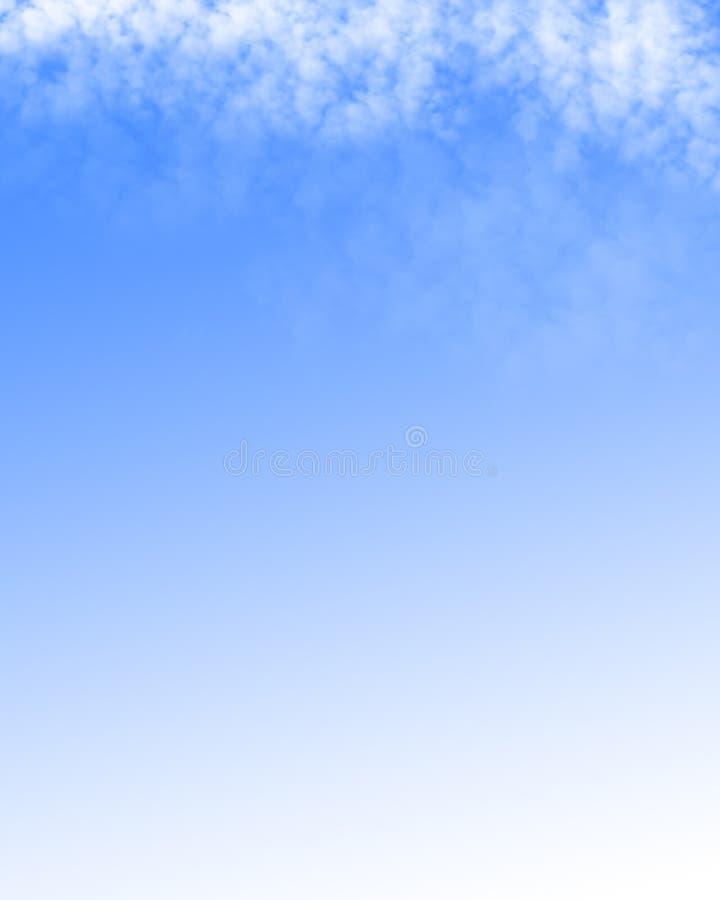 Moln i en klar blåttsky stock illustrationer