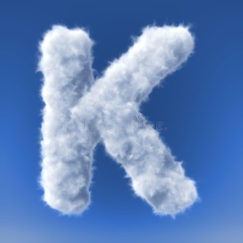 Moln i form av bokstaven stock illustrationer