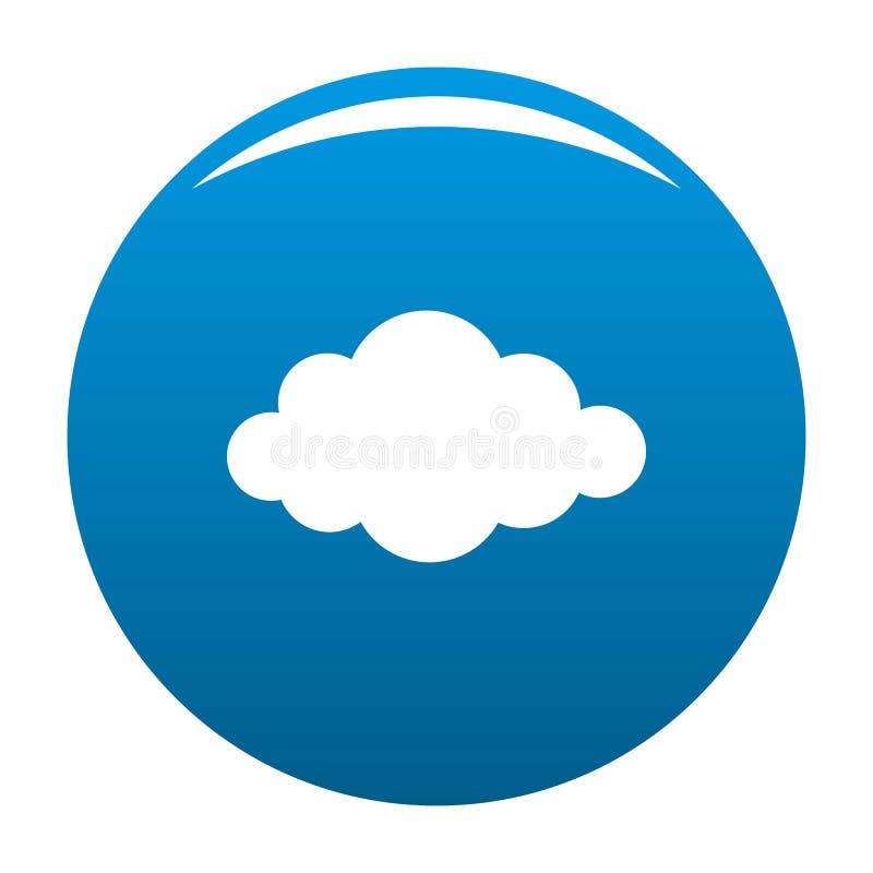 Moln i vektor för himmelsymbolsblått vektor illustrationer