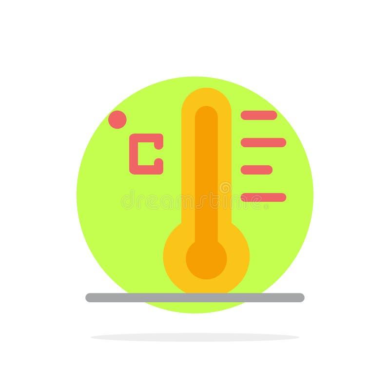 Moln ljust som är regnigt, sol, för abstrakt symbol för färg cirkelbakgrund för temperatur plan royaltyfri illustrationer