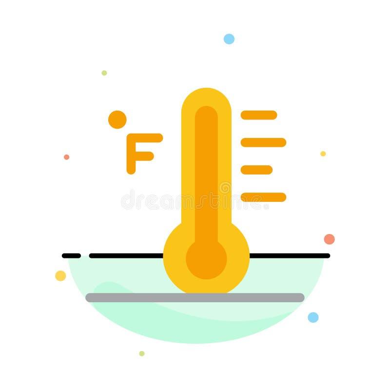 Moln ljust som är regnigt, sol, för färgsymbol för temperatur abstrakt plan mall vektor illustrationer