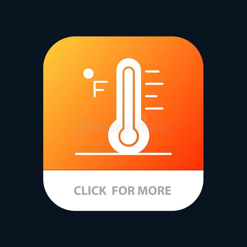 Moln ljust som är regnigt, sol, mobil Appknapp för temperatur Android och IOS-skåraversion vektor illustrationer